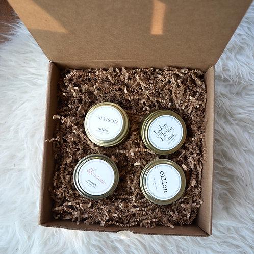 (4) Travel Tin candle Gift Box