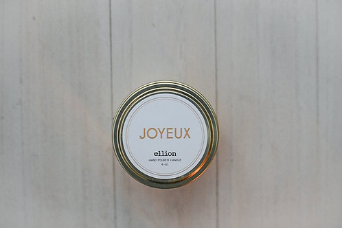 JOYEUX ellion Christmas travel candle - 6 oz