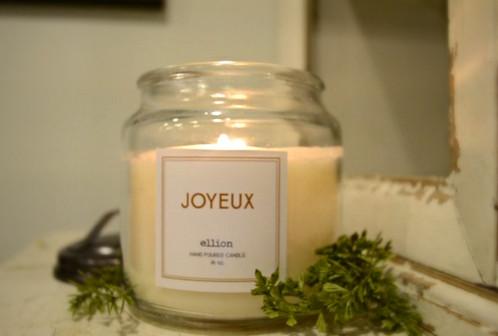 JOYEUX ellion Christmas candle - 16oz   shopellion   handpoured ...