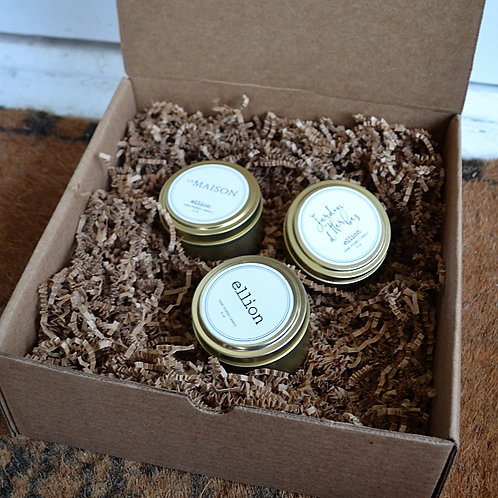 (3) Travel Tin candle Gift Box