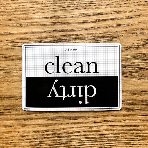 dish washer magnet- clean|dirty