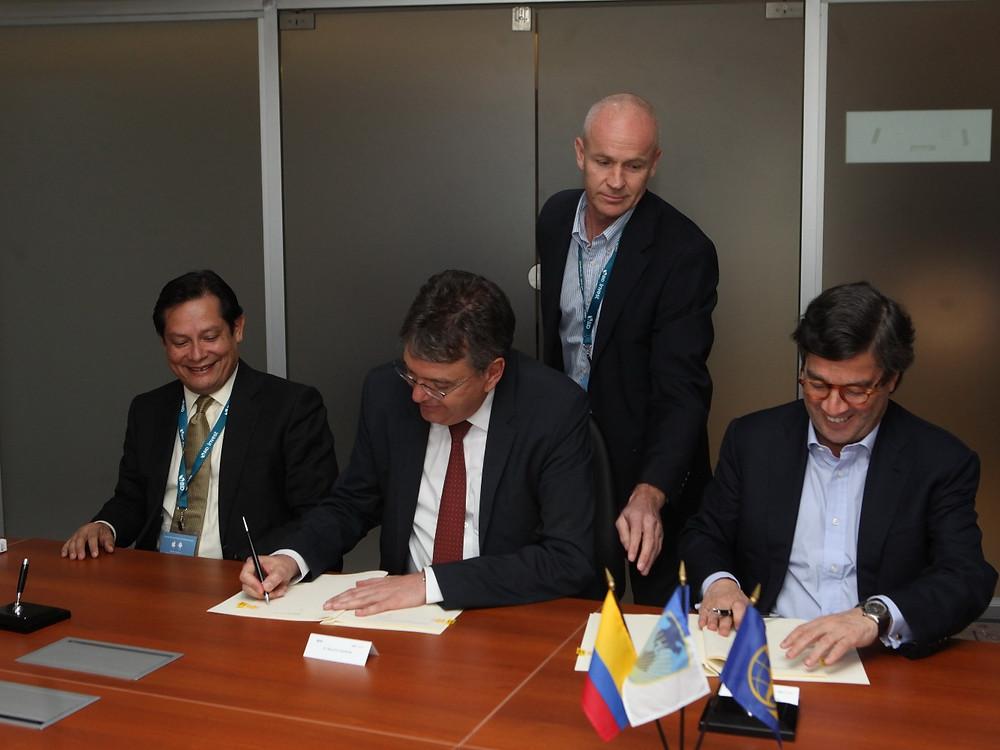 Clemente del Valle, Mauricio Cárdenas y Luis Alberto Moreno