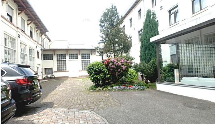 Parken direkt im Hof