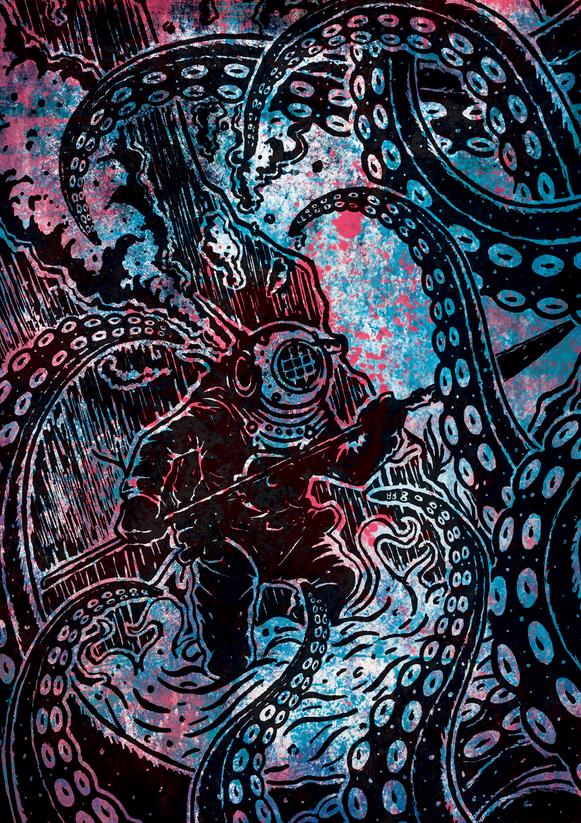 Diver Vs Octopus