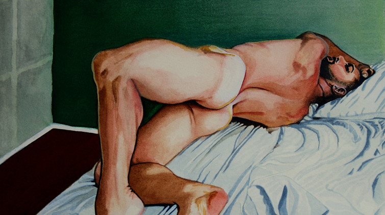 Male Nude on a bed. (2017)