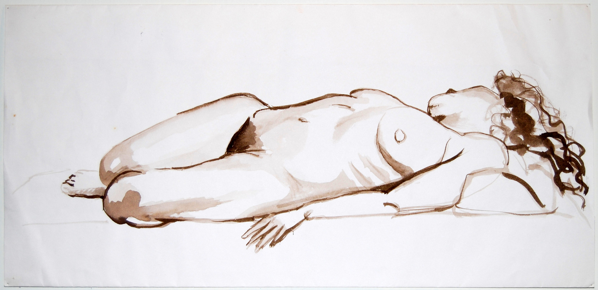 Female nude, sleep (1988)