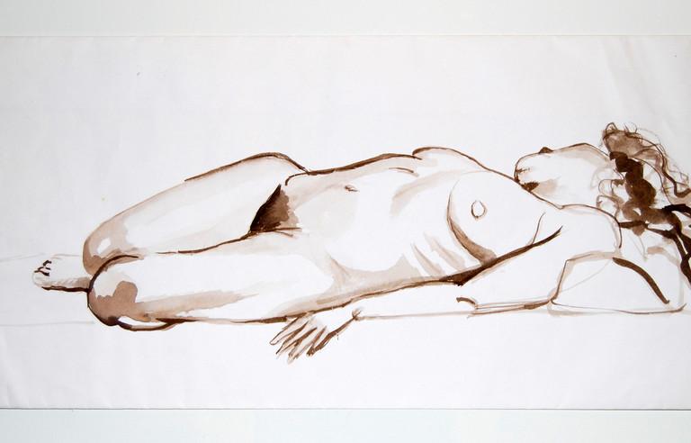 Female nude, sleep (1988)