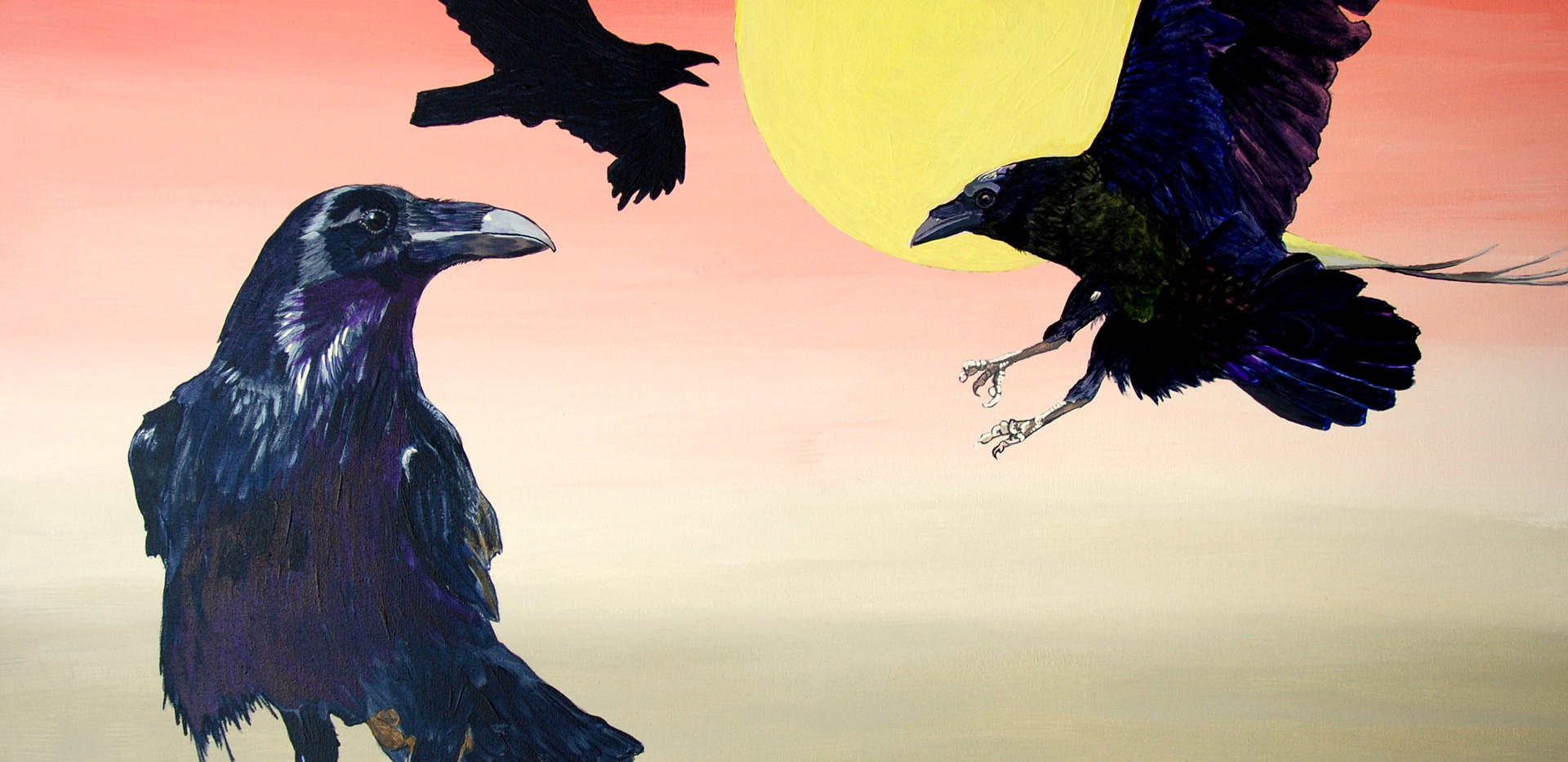 Ravens at dawn (2017)SOLD