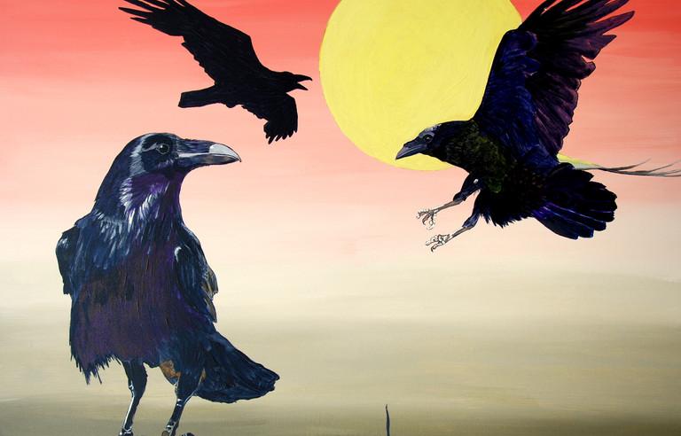 Ravens at dawn (2017)SOLD