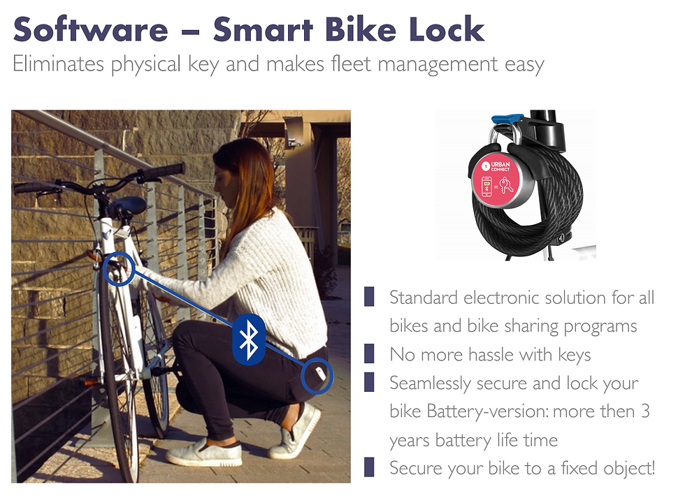Urban Connect Smart Lock for corporate bike sharing