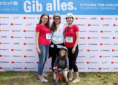 Urban Connect Team at the cycling for children