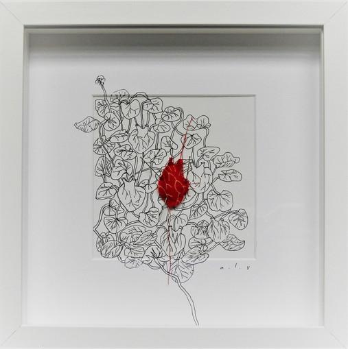 Coeur rouge épinglé