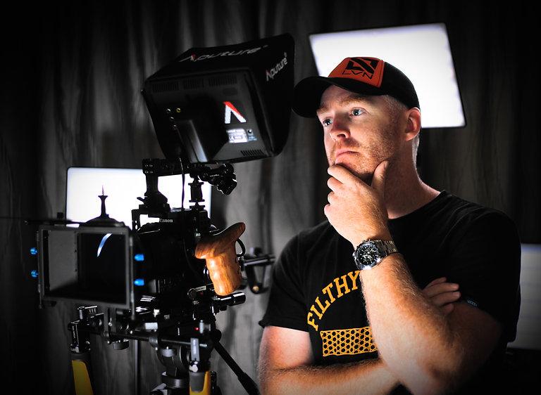 Ryan Brawley on set