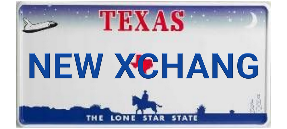 new exchange license plate