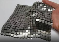 Metallic space fabric developed by Nasa.