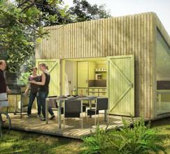 'trek-in' materialization hikers cabin