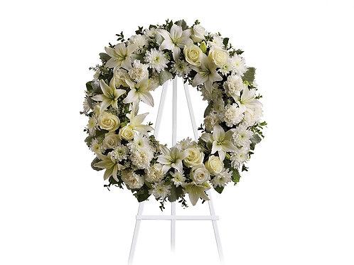 Mixed White Wreath