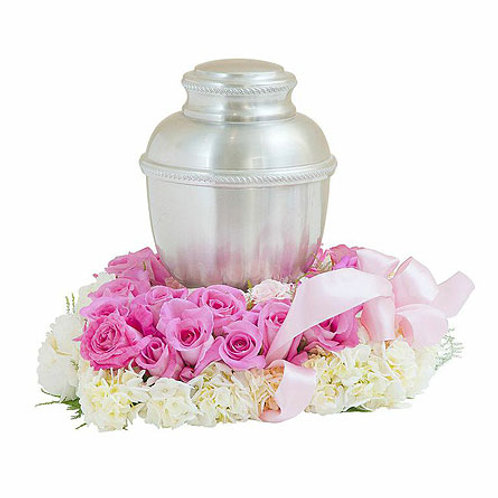 Pink & White Urn Tribute
