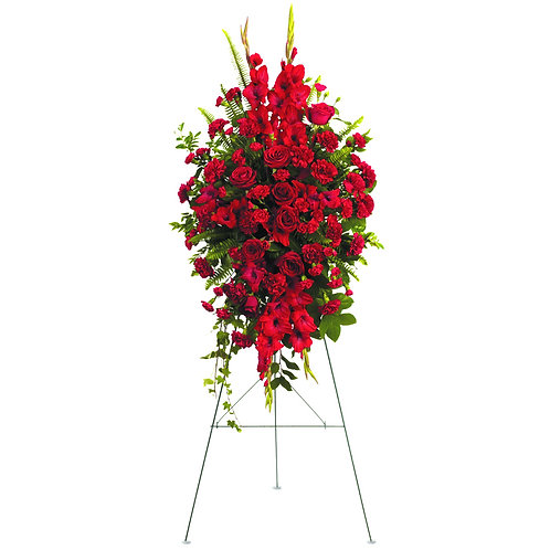 Mixed Red Standing Spray