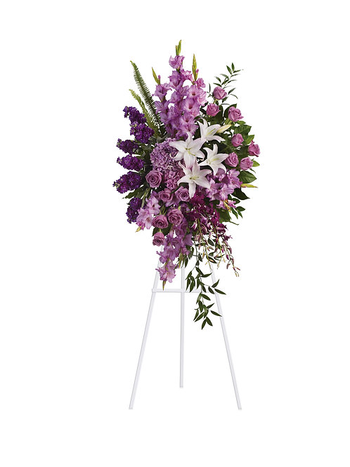 Mixed Purples Standing Spray