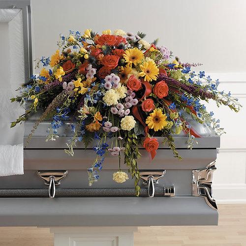 Funeralflowers mixed flower casket spray mixed flower casket spray mightylinksfo