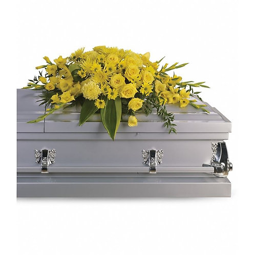 Mixed Yellow Casket Spray