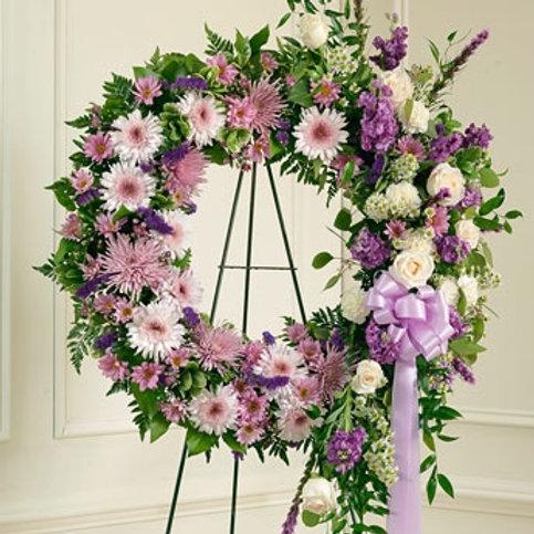 Mixed Lavender Wreath