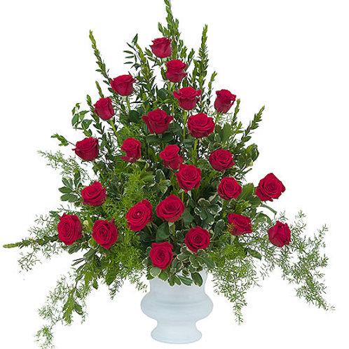 Red Rose Floor Basket