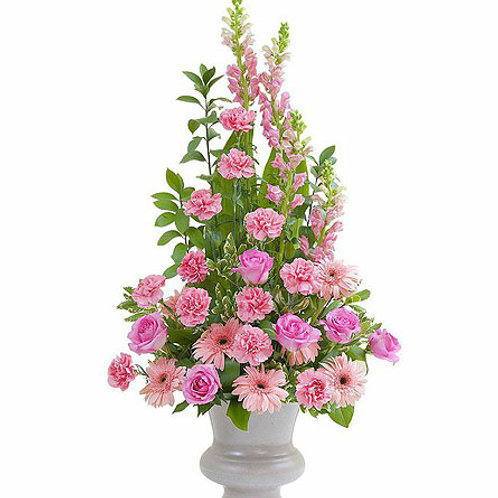 Mixed Light Pink Floor Basket