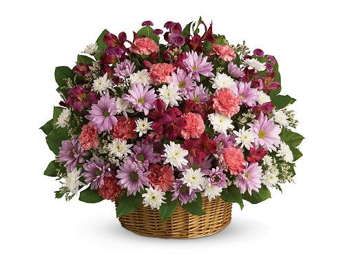 Mixed Pinks Basket Arrangement