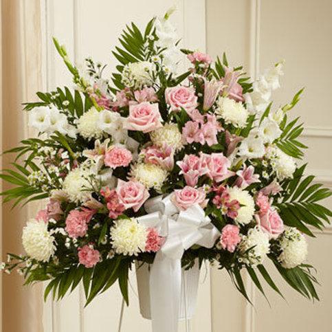 Pink & White Standing Basket