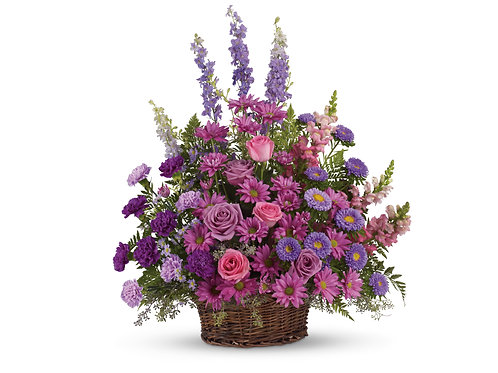 Mixed Purple Basket Arrangement