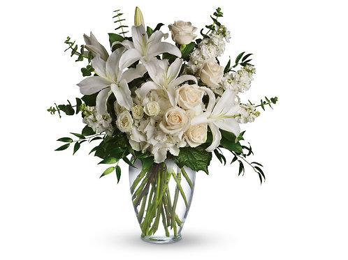 Mixed White Vased Arrangement