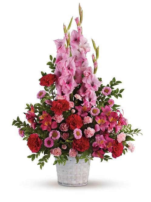Mixed Pink Floor Basket