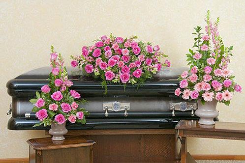 Peacefully Pink Sympathy Display
