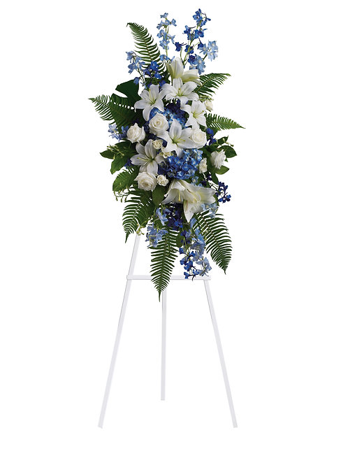 Blue & White Standing Spray