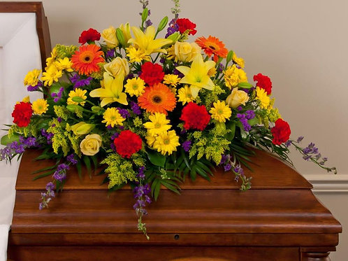 Mixed Brights Casket Spray