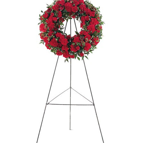 Mixed Red Wreath
