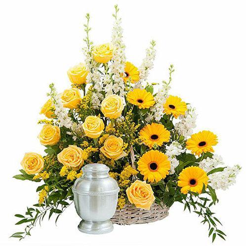 Mixed Yellow Basket Tribute