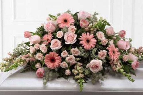 Pink Rose & Gerbera Daisy Casket Spray