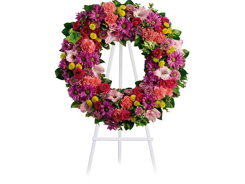 Mixed Pink Wreath
