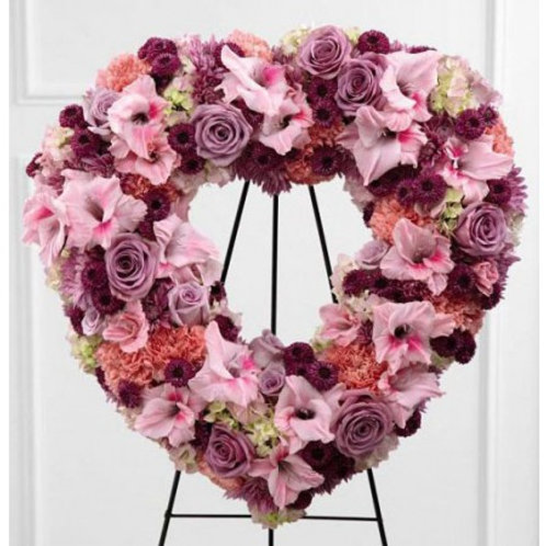 Lavender & Pink Open Heart