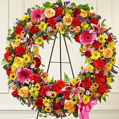 Bright Sympathy Wreath