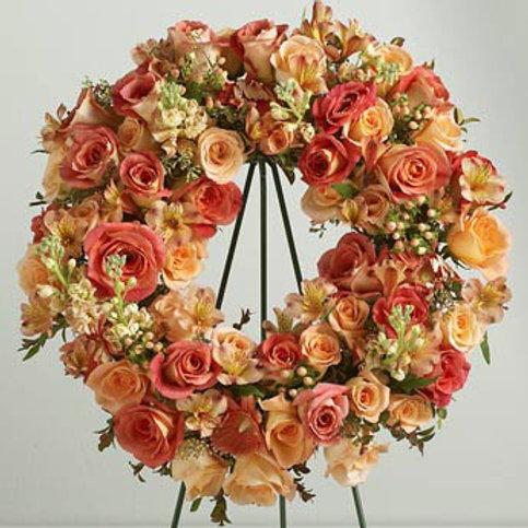 Fall Rose Wreath