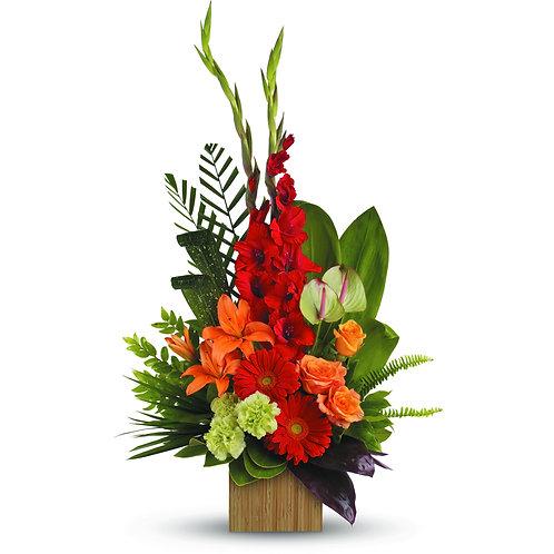Red & Orange Vased Arrangement