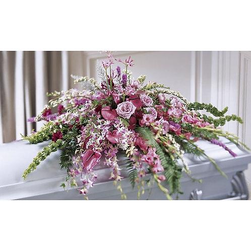 Lavish Lavender Casket Cover