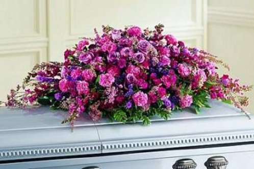 Mixed Purple Casket Spray