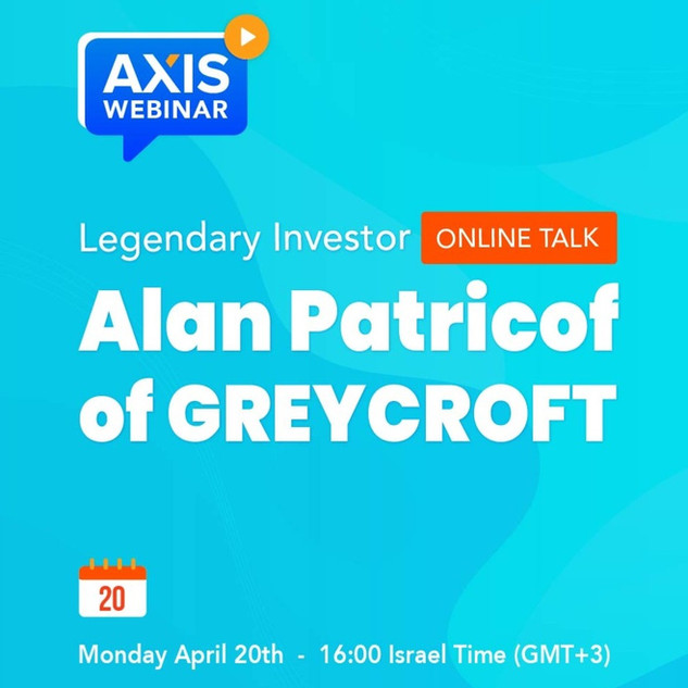 Webinar with Top US investor Alan Patricof