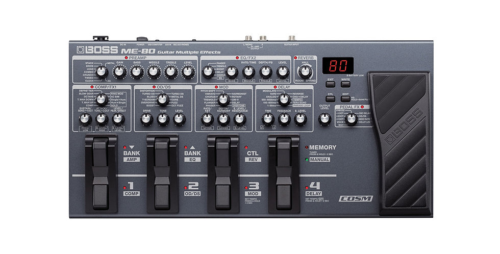 BOSS ME-80 GUITAR MULTIPLE EFFECTS PEDAL