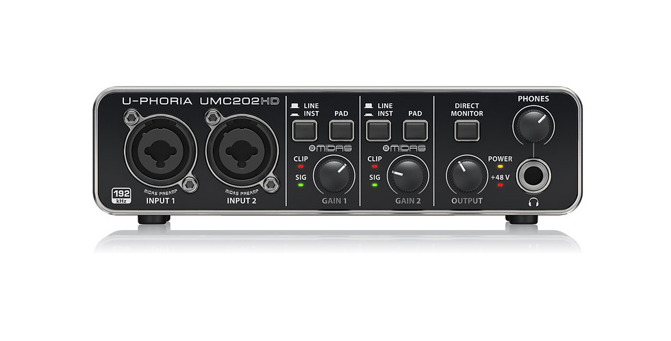 BEHRINGER UMC202HD Audiophile 2x2, 24-Bit/192 kHz USB Audio Interface